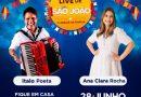 Ítalo Poeta e Ana Clara Rocha promovem Mega Live do São João para ajudar instituições carentes do Ceará